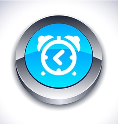 Alarm-clock 3d button vector