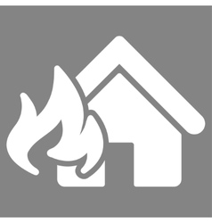 Fire damage icon from business bicolor set vector