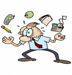 very busy business-man vector image