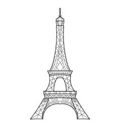 Doodle eiffel tower hand drawn sketch vector