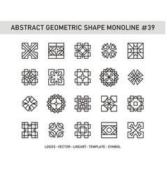 Abstract geometric shape monoline 39 vector