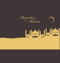 Background for greeting card ramadan kareem vector