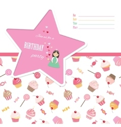 Birthday invitation card template vector