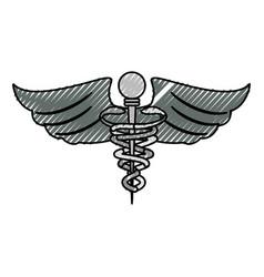 Caduceus medical symbol vector