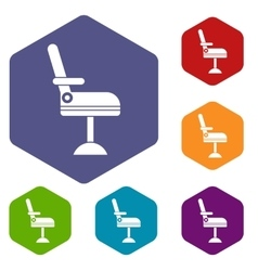 Chair icons set vector