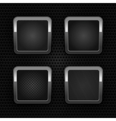 chrome web buttons vector image