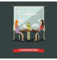 Coffee house concept in flat vector