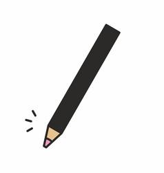 cosmetic makeup pencil icon vector image vector image