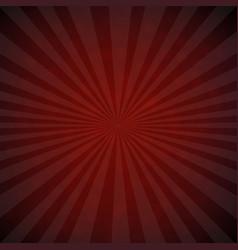 Dark red burst retro poster vector