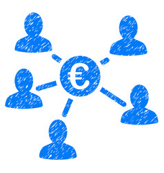 Euro client payments grunge icon vector