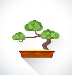 flat bonsai icon vector image vector image