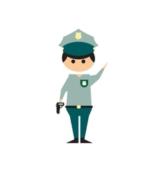 Flat web icon on white background police officer vector