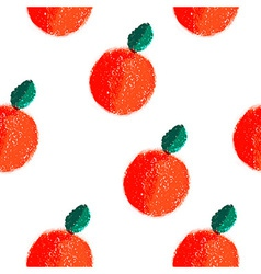 Fruit orange seamless watercolor pattern vector image