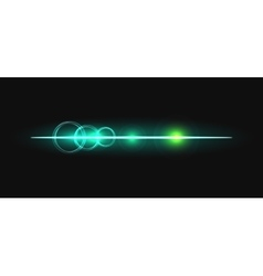 Glow stick line with circles effect vector image