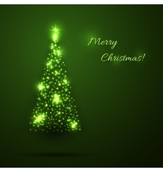 Green christmas shining background vector