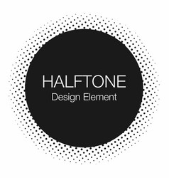 halftone dots monochrome abstract background in vector image vector image