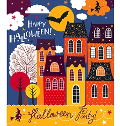 Halloween holiday card vector image vector image