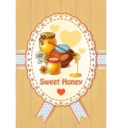 Honey Colored Poster vector image vector image