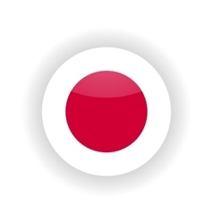 Japan icon circle vector image