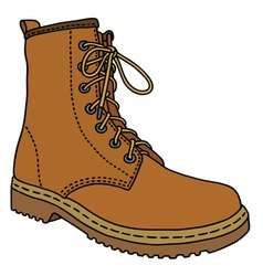 Light leather boot vector image vector image
