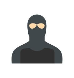 Man in a mask flat vector