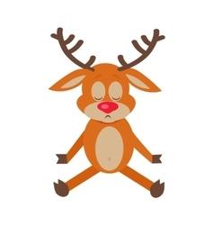Meditating Deer Cartoon Flat vector image