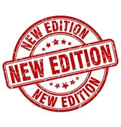 New edition red grunge round vintage rubber stamp vector