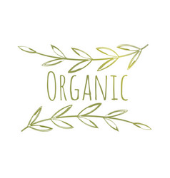 Organic eco label vector