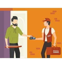 Payment by credit card vector image
