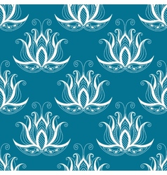 Pretty vintage floral repeat seamless pattern vector image