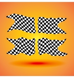Racing background set collection of four checkered vector