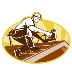 roofing worker vector image