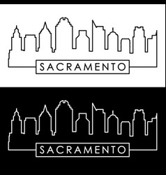 sacramento skyline linear style vector image vector image