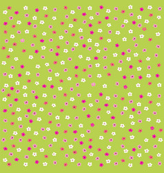 seamless floral pattern with cute little flowers vector image