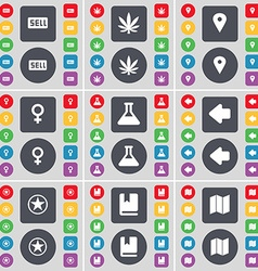 Sell marijuana checkpoint venus symbol flask arrow vector