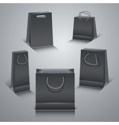 Set of the paper shopping bags vector image