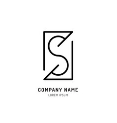 set s logo design vector image vector image