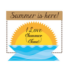 Summer vacation sing in beautiful sunny beach vector