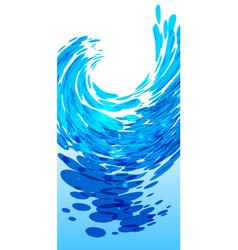 Water splash background vector