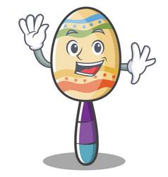 waving maracas character cartoon style vector image