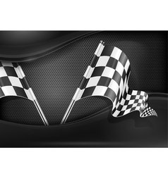 Chequered flag racing background vector