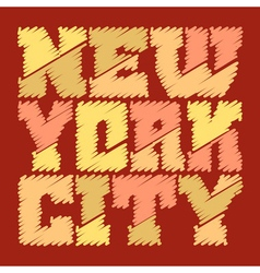 T shirt graphics new york drawn vector