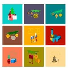 Assembly flat celebration christmas vector