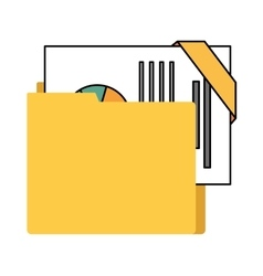 Organizer file folder isolated icon vector