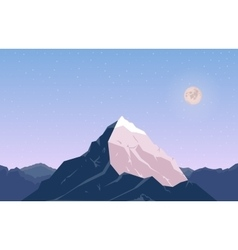 Landscape with mountain peak 6 vector