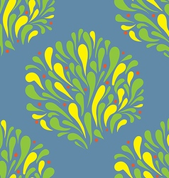 pattern stylized leaves and splashing water vector image