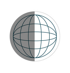 Global sphere icon vector