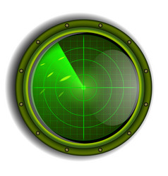 military radar vector image