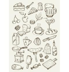 menu icons vector image