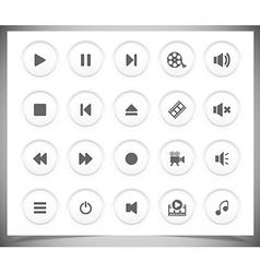 Black media icons vector image